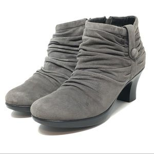 Dansko Buffy Gray Suede Booties Women's Size 40